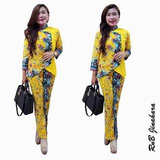 Baju Atasan Batik Model Setelan Rok Panjang Busana Baju Batik Modern