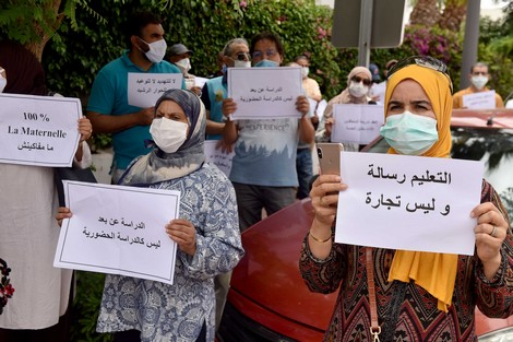 أولياء تلاميذ مدرسة خصوصية يحتجون في برشيد