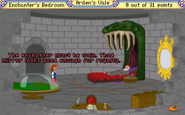 Riel hablando con un anciano tumbado en la cama.