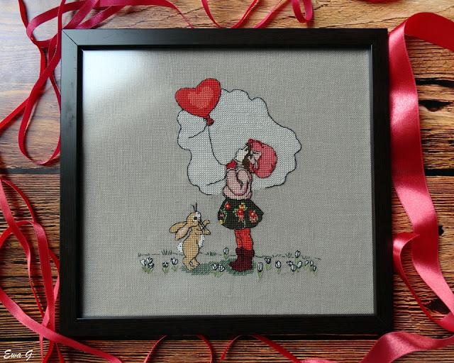 "Belle&Boo ""A little love in the air"" - oprawa oraz przygotowania do nowego haftu"