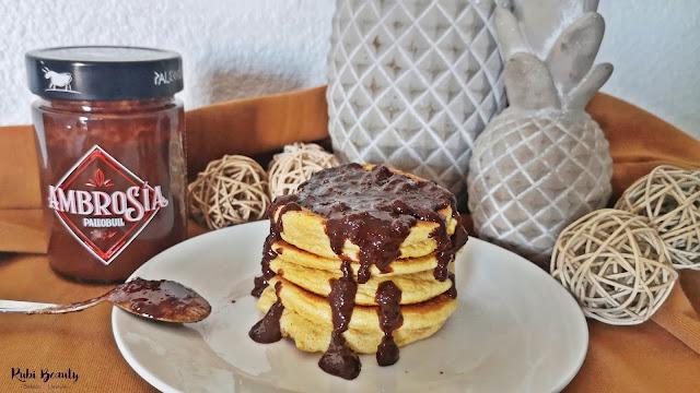 tortitas esponjosas de calabaza pumpkin pancakes