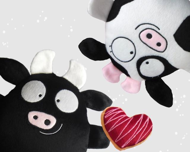Pareja personalizada, vaca y toro de peluche guyuminos regalo novios aniversario amor  kawaii tierno