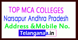 Top MCA Colleges in Narsapur Andhra Pradesh