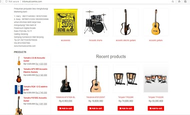Website toko online - music store