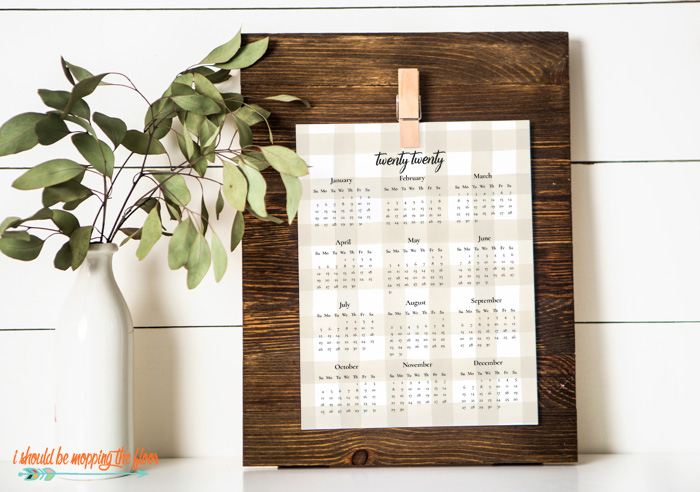 One Page Calendar