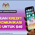 [RASMI] Bantuan Kredit Telekomunikasi RM180 Untuk Golongan B40