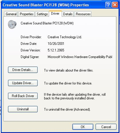 VMWare Audio Driver Windows 95/98/ME/XP   Operating System