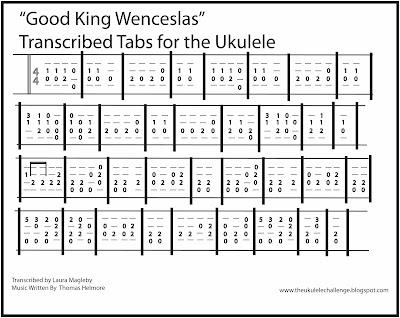 Ukulele ukulele tabs good king wenceslas : The Ukulele Challenge: November 2015