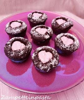 Muffin al cioccolato e lamponi