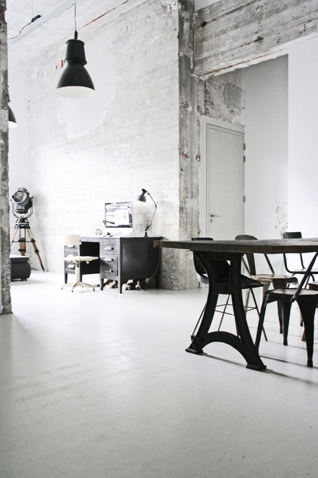 Loft abierto de estilo industrial