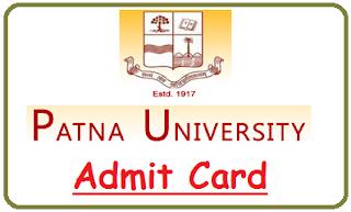 Patna University Admit Card 2020