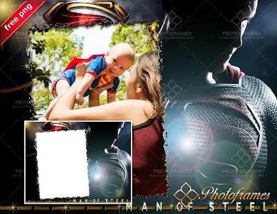 Marco de Superman para hacer fotomontajes