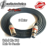 Kabel Mic XLR Male To Female Canon Canare 2 Meter