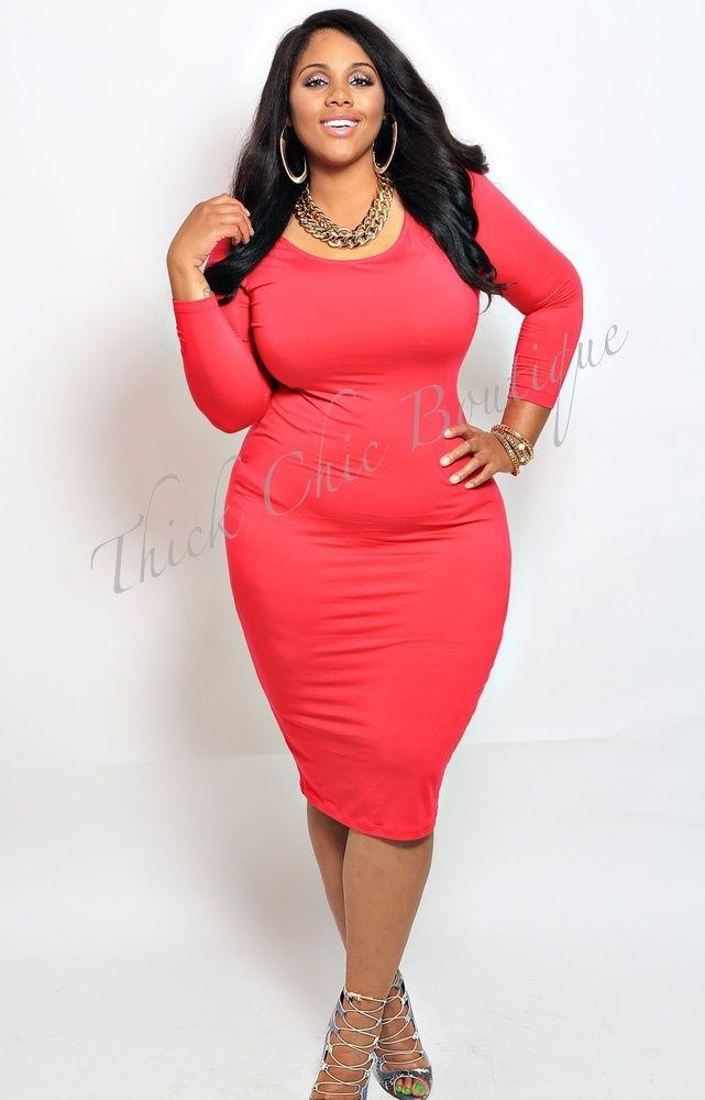 Plus Size Bodycon Midi Dresses Fit Body | LATEST FASHION ...