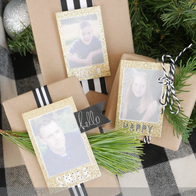 make pretty packages with Heidi Swapp Instax Vintage by Jamie Pate |  @jamiepate for @heidiswapp