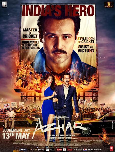 Poster of Azhar 2016 720p Hindi BRRip Full Movie Download