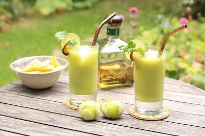 cocktail vert à l'avocat tequila