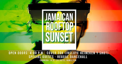 JAMAICAN ROOFTOP SUNSET #5  - 1