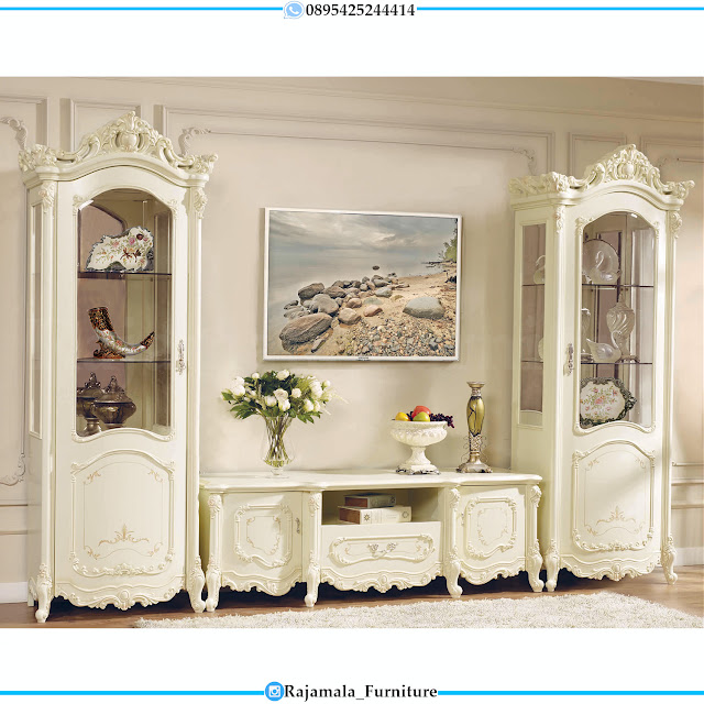 New Model Bufet TV Mewah Luxurious Itailansky Classic RM-0396