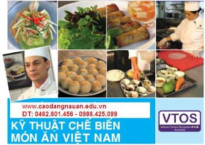 Kỹ thuật chế biến món ăn Việt Nam [Tiêu chuẩn VTOS - www.caodangnauan.edu.vn]