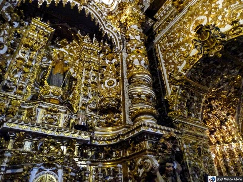 Interior da Igreja e Convento São Francisco - mais de mil quilos de ouro em pó - o que fazer em Salvador