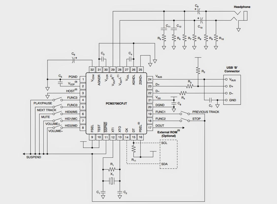 Diy Usb Hangkrtya Pcm2707c Vel Elektrobarlang The Fu29 Pushpull Circuit Amplifiercircuit Diagram Ha Mindenkpp Minimalizlni Akarjuk A Felhasznlt Alkatrszeket Akkor Kln Tpegysgre Sincs Szksg Az Ic 5 Voltjbl Ellltja Mkdshez