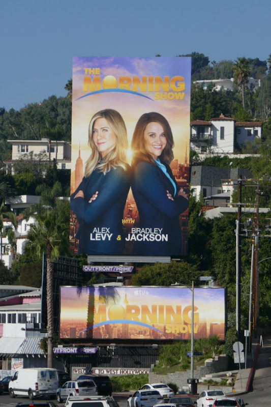 Morning Show faux billboards Sunset Strip