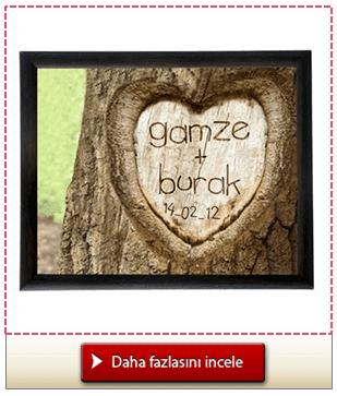 Aşıklara Özel Çerçeve Aşkınızı Ağaca Kazıyın