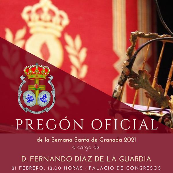 El Pregón Oficial de la Semana Santa de 2021 se celebrará en el Palacio de Congresos de Granada