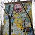 Graffiti en edificios de Moscu en Rusia