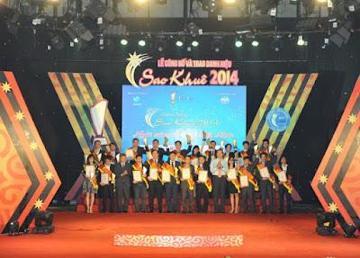 """giải thưởng """"SAO KHUÊ"""" do hiệp hội VINASA trao tặng vào những năm 2013, 2014, 2108."""