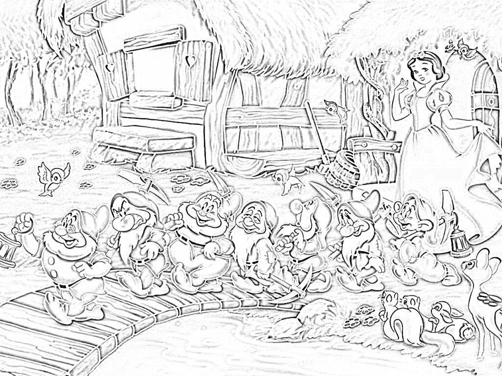 Il percorso profondissimo biancaneve e i sette nani ed il for La storia dei nani da giardino