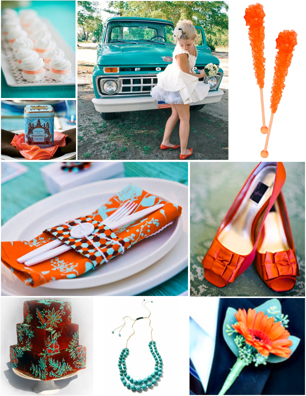 Orange And Aqua: Sew Sally