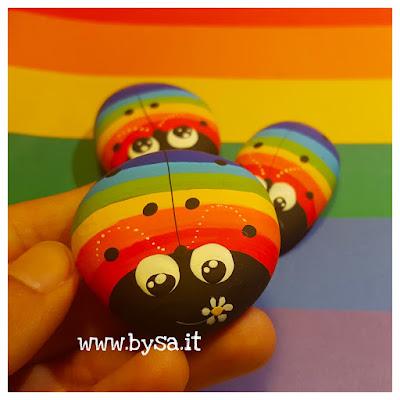 coccinelle arcobaleno gaypride dipinte