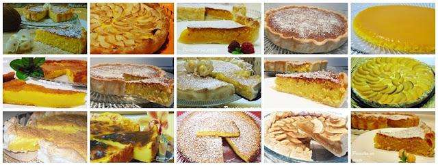 Várias receitas de tartes