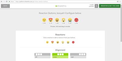 Tutorial Sharethis-Cara pasang tombol reaksi pengunjung pada postingan di Blog