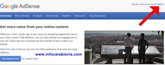 Masuk Google Adsense