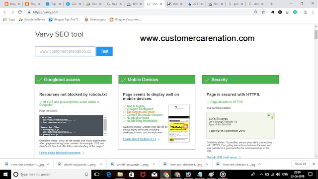 Varvy - Free Google Seo Checker Tool