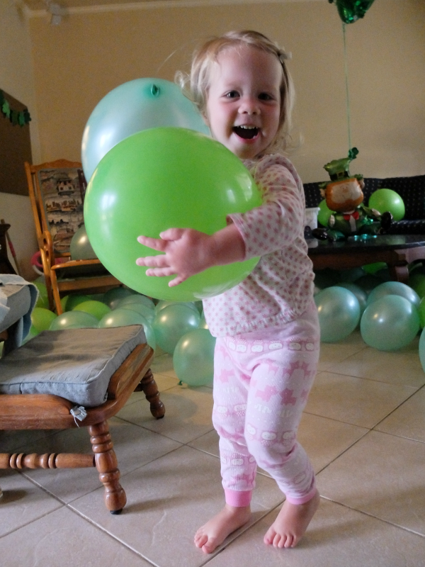 green balloons for St. Patrick's Day
