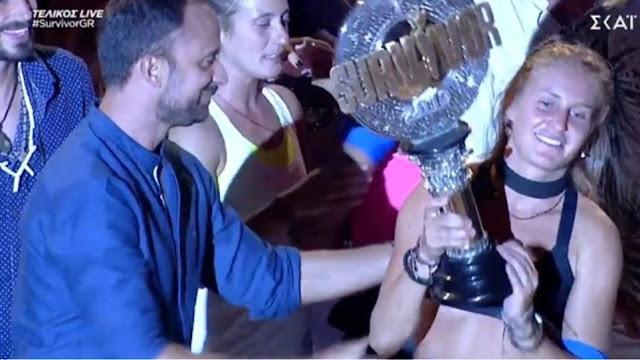 """Μεγάλη νικήτρια του """"Survivor 3"""" η Κατερίνα Δαλάκα"""