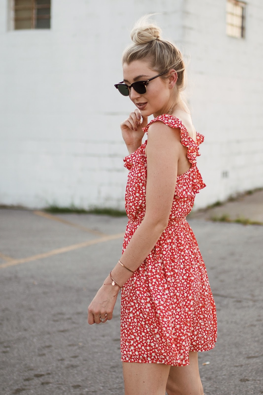 ruffled floral sundress