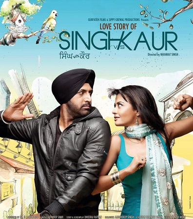 Poster Of Singh vs Kaur 2013 Punjabi 450MB DVDRip 480p ESubs Free Download Watch Online