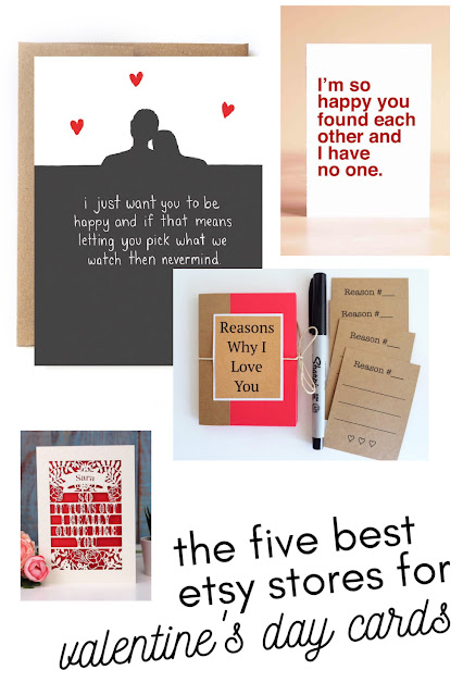 The Five Best Etsy Stores for Valentine's Day Cards