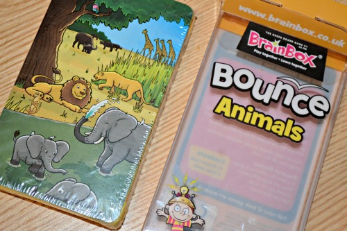 Brainbox bounce animals family game