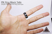 Jual alat sulap Pk Ring Black tatto