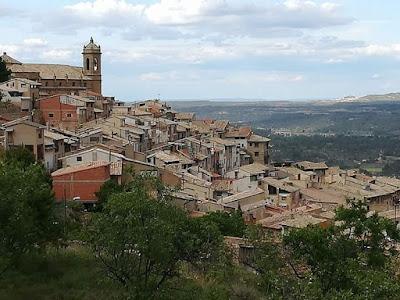La Fresneda, foto desde las alturas.
