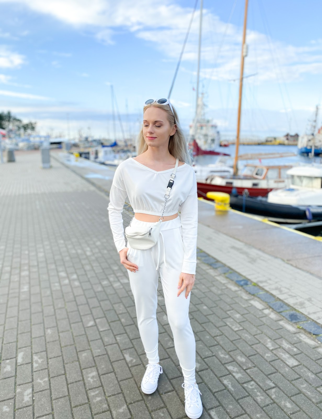 White Crop Loungewear Set - Deanna