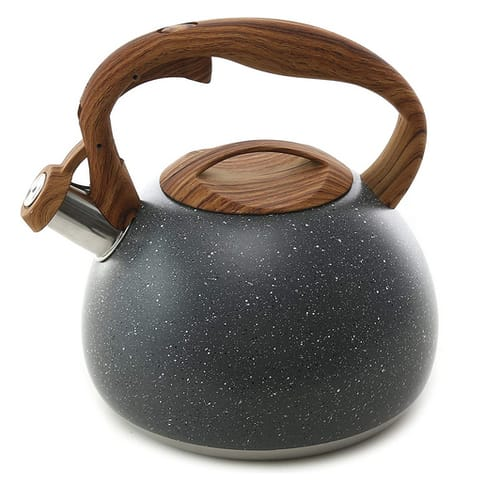 BELANKO Teapot for Stovetops Wood Pattern Handle
