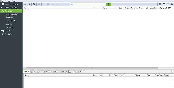 Ads-free uTorrent Window UI