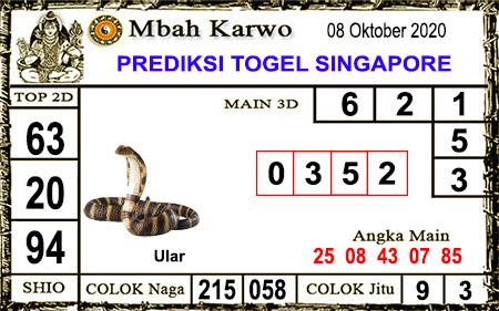 Pred Mbah Karwo SGP 45 Kamis 08 Oktober 2020